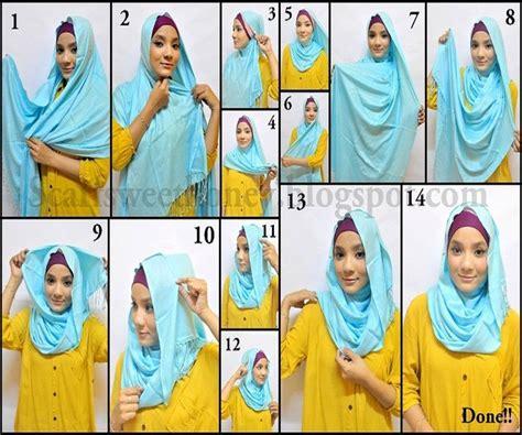 tutorial   memakai mengenakan jilbab hijab modern erlynda jilbab modern