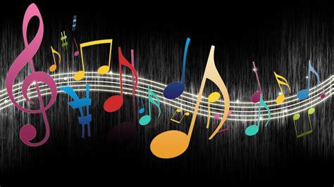 colorful sol keys  musical notes wallpaper