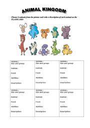 animal kingdom esl worksheet  freya