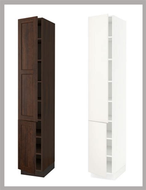 narrow kitchen cabinet ikea kitchen hack a custom wine cabinet for a narrow space