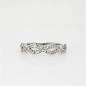 infinity twist micropave diamond wedding ring in platinum With infinity twist micropavé diamond wedding ring