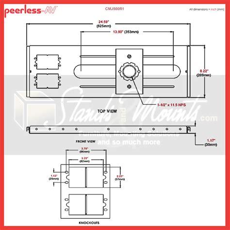 peerless kwik loc lightweight above grid adjustable