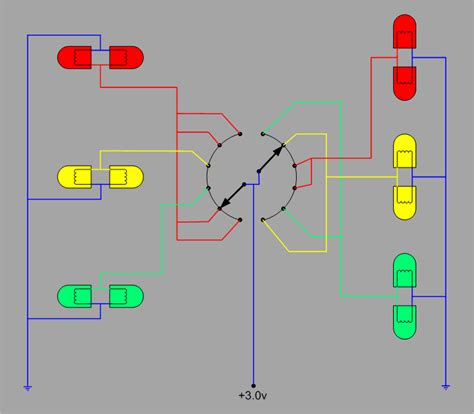 Building Traffic Signal With Christmas Lights Michael