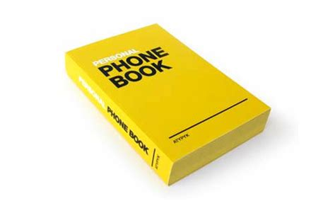 phone book personal phone book gifts