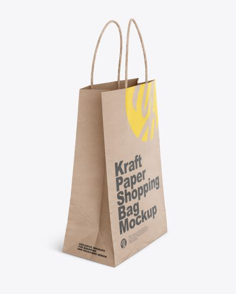 We made a list of free, stunning looking and high quality bag mockups for your designs. Download Kraft Shopping Bag Mockup Yellowimages - Kraft ...