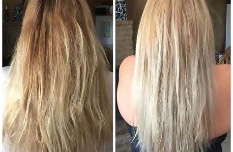 Wella T11 & T18 Toner Before And After