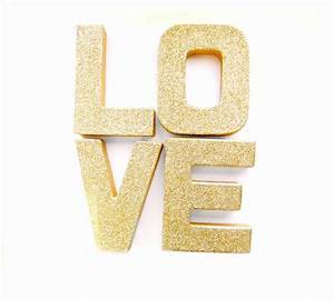 gold glitter love letters glitter letters custom With gold glitter letter ornaments