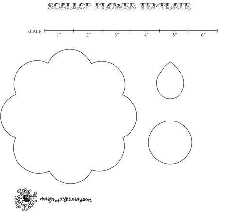 printable flower template cut out 7 best images of felt flower template printable printable flower template printable flower