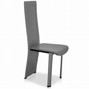 Chaise de cuisine grise cuisine blanche grise et for Deco cuisine avec chaise cuisine grise