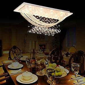 Ceiling Lighting Chandelier Dining Room Rain Drop Crystal