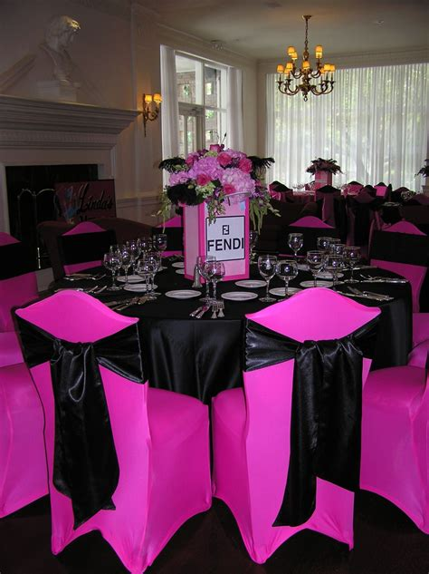 bachelorette party weekend hot pink black  silver
