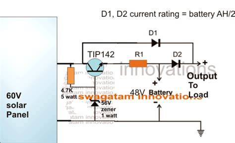 solar battery charger circuit  highlow cut