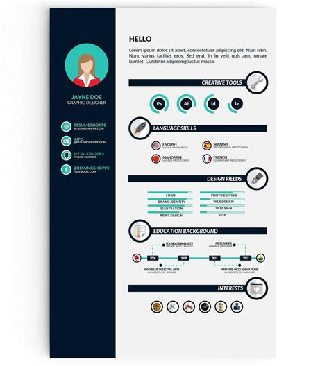 curated cv template infographic resume templates 13 exles to download