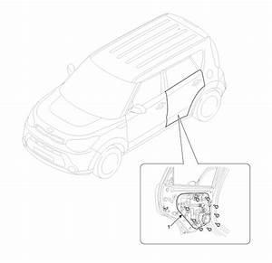 Kia Soul  Rear Door Module Component Location