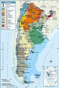 Mapas de Argentina: Físicos, políticos, climáticos y regiones geográficas • El Sur del Sur