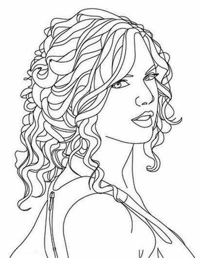 Coloring Pages Hair Swift Taylor Printable Ross