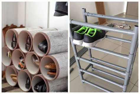 pvc shoe rack 8 ways to use pvc pipes for storage this summer personal