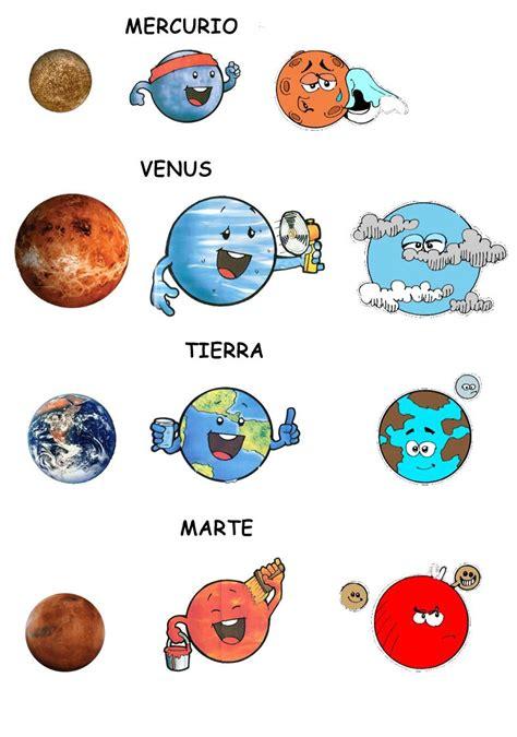 los planetas del sistema solar dibujos diferentes  presentar cada planeta el universo