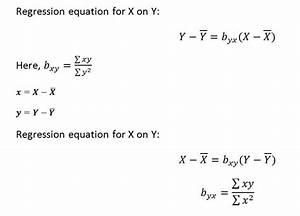 Regression Equation Formula