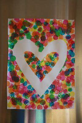 valentine craft tape  heart shape kids  dot