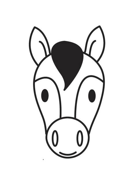 malvorlage pferdekopf kostenlose ausmalbilder zum