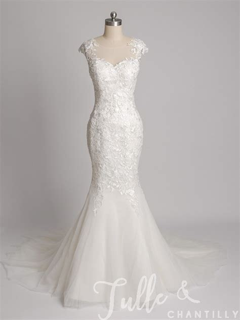white robes for sale gorgeous mermaid lace wedding gown with illusion boat neck