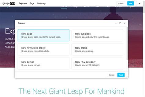django cms project templates django cms reviews and pricing 2018