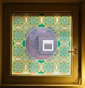Orient Teppich Selbst Reinigen : fensterfolie arabeske bedruckte glasdekorfolie als ~ Lizthompson.info Haus und Dekorationen