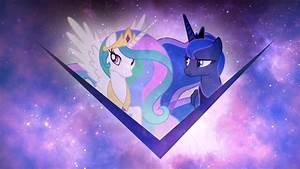 Image - Princess Celestia and Princess Luna wallpaper by ...