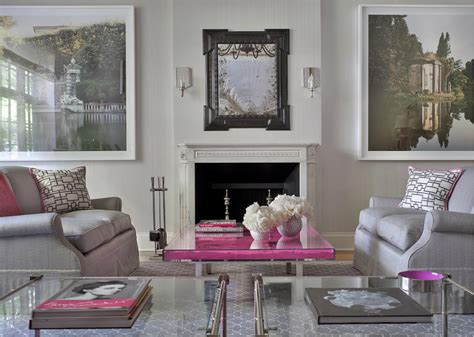 pink  gray space interiors  color