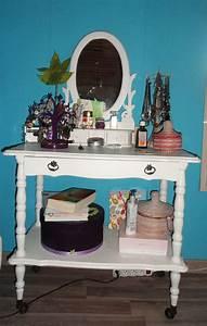 Grand Miroir Maison Du Monde : coiffeuse diy avec un meuble de grand m re repeint et un ~ Nature-et-papiers.com Idées de Décoration