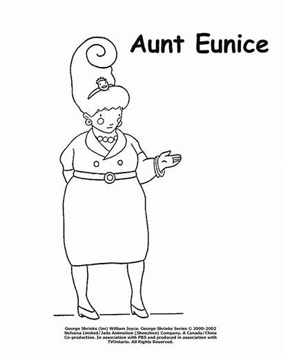 Aunt Coloring Pages George Shrinks Birthday Happy