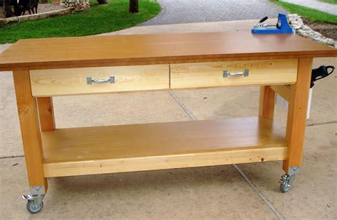 rolling workbench plans home design ideas