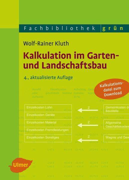der gartenbau verlag kalkulation im garten und landschaftsbau ebook pdf