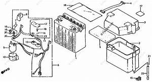 Honda Scooter 1984 Oem Parts Diagram For Battery