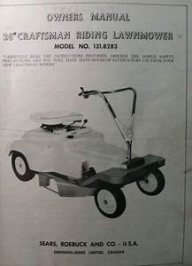 Sears Craftsman 26 U0026quot  Riding Lawn Mower 6 Hp Tractor 131