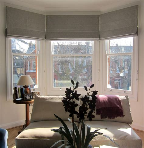 fabric roller shade bay window curtains ideas for privacy and
