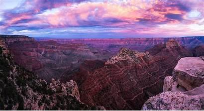 Canyon Grand Sunset Pano 4k Wallpapers Nature