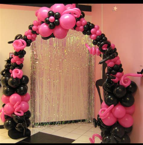 pink and white balloon decorations balloon arches trade shows and corporate company events