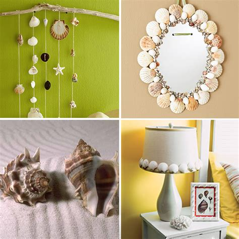 decorate your home with seashells and seashell crafts from your vacation modern interior and