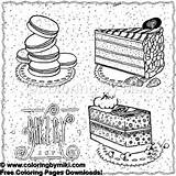 Bakery Coloring Sweets sketch template