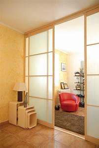 Cloison Séparation Pièce : installer une cloison coulissante bricolage avec robert ~ Premium-room.com Idées de Décoration