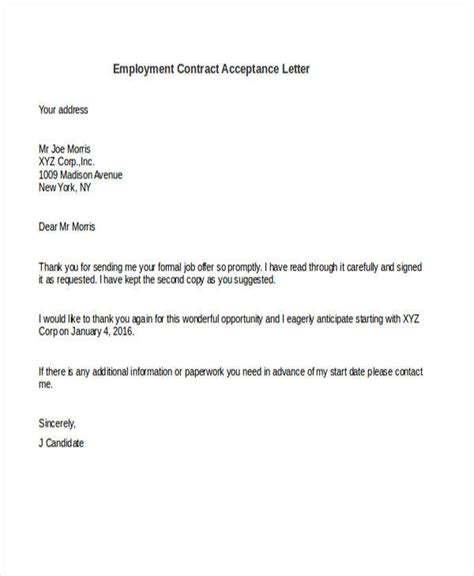sle job offer acceptance letter pdf docoments ojazlink letter accepting contract cancellation 28 images sle