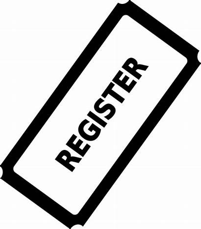 Register Clipart Registration Clip Button Ticket Early