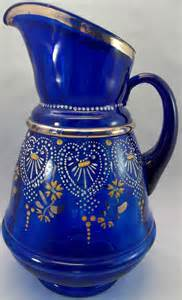 Antique Cobalt Blue Glass Pitcher