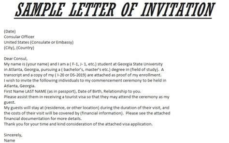 invitation letter to usa letter of invitation for visa template resume builder 12606