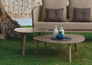 Table Basse Forme Galet : table galet blanc ou taupe milo en aluminium deisgn italien talenti ~ Teatrodelosmanantiales.com Idées de Décoration