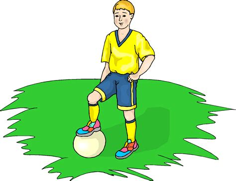 Football Clipart Boy Play Football Free Clipart Free Microsoft Clipart