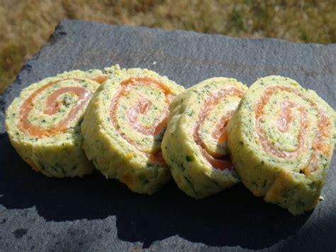 recette avec du boursin cuisine gateau roulé aux courgettes et au saumon fumé la cuisine