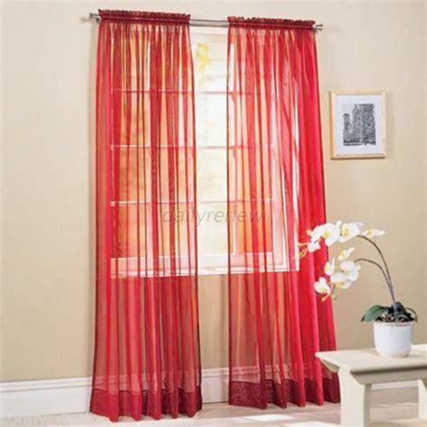 multi color door room voile window curtain sheer panel